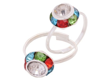 Multicolor Toe Rings