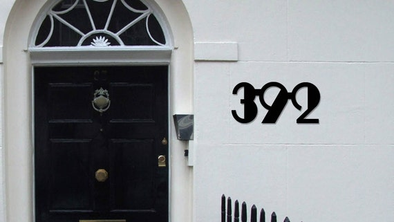 three large art deco house numbers 6 inch numbers. Black Bedroom Furniture Sets. Home Design Ideas