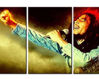 Bob MarleyCanvas Wall Art canvas print pop art Bob Marley
