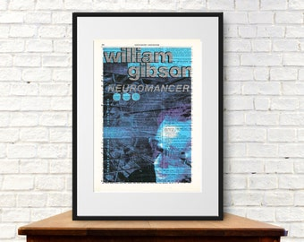 Neuromancer by William Gibson. Book Cover Art Print
