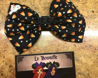 Halloween Candy Corn hair bow