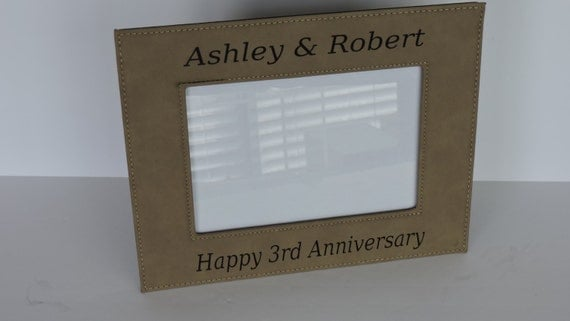 3rd Wedding Anniversary Leather Gifts: 3rd Anniversary Leather Gift Leather Photo Frame By