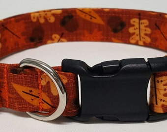 Dog Collar, autumn leaves, fall dog collar, fall collar, leaves, fall, autumn