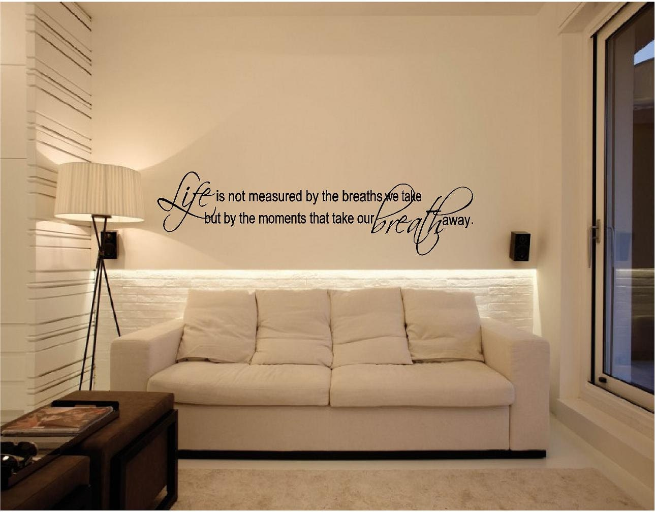 Life Is Not Measured By The Breaths Quote Life Is Not Measuredhe Breaths We Take.wall Quotes