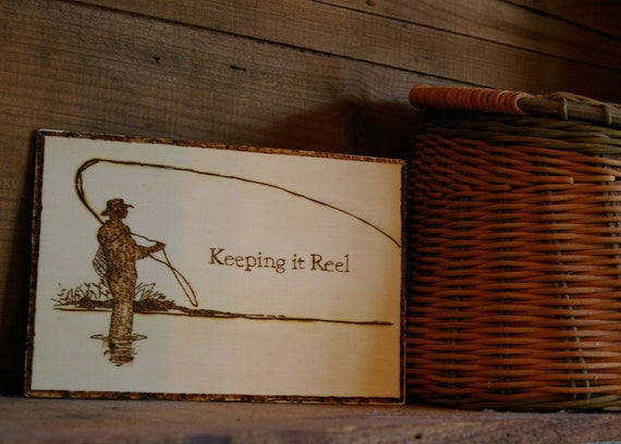 Keeping it reel fly fishing wood burned picture by emberkraft for Keep it reel fishing