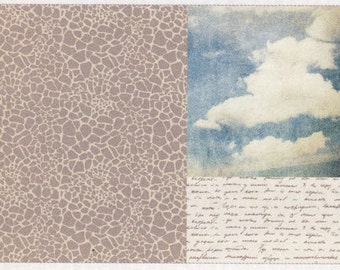 BASE 3-pattern Decoupage Paper Napkins 2 sheets per pack Cloudy Blue Sky Wordings Wall Jetadore Zacca Decoration Made in Japan