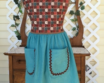 Upcycled Quilted-Top Apron