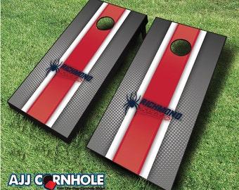 Officially Licensed Richmond Spiders Striped Cornhole Set with Bags - Bean Bag Toss - Richmond Cornhole - Corn Toss - Corn hole