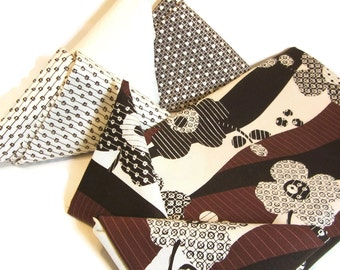 Fabric Bundle / Quilting Fabric / Quilt Fabric Bundle/ Brown & White Fabrics / Marcus Brothers Textile / Michele D'Amore Fabric