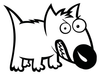Cute Angry Dog Vinyl Decal