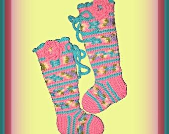 Pattern Only, Crochet Socks, Kid's Scooter Socks