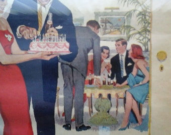 50s / 60s Pepsi Cola Ad, Pepsi Makes the Party, Be Sociable, Have a Pepsi