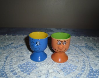 pair of face egg cups