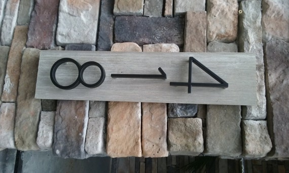 Barnwood gray house number plaque for House numbers
