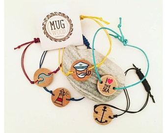 Handmade wooden bracelets