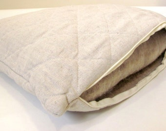 HEMP Organic Pillow filled HEMP FIBER and Hemp cover pillowcase/100% Hemp pillow/ Hypoallergenic Bed Pillow /Toddler/Eco pillow/Eco friendly