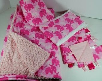 Newborn Baby Bundle cuddly pink elephant