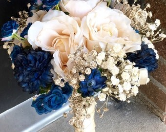 Gold and Navy Bouquet