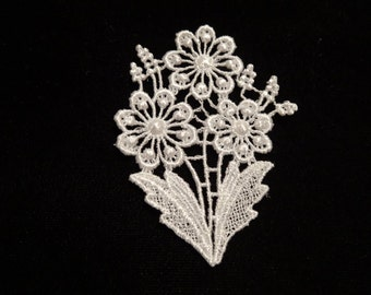 Flower Venise Lace Medallion - Lot of 6