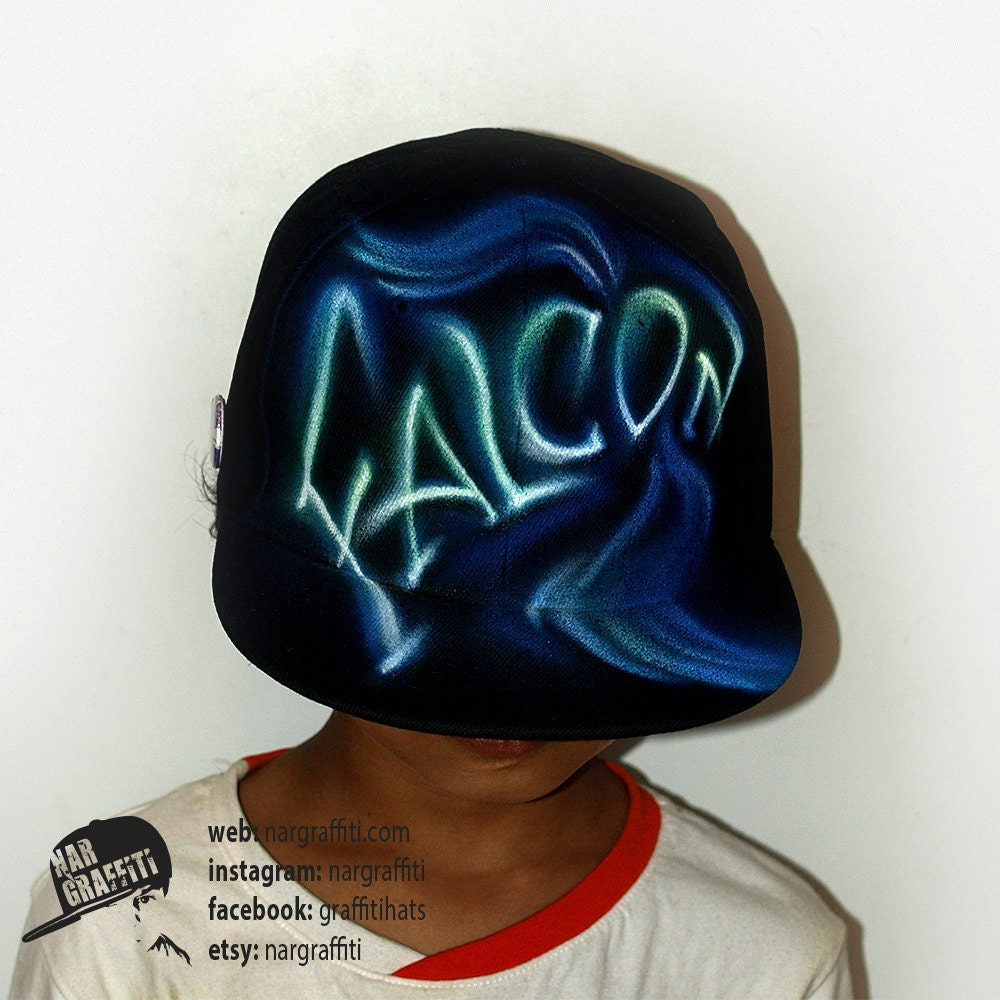 4807e1e264e01 SNAPBACK hat with YOUR NAME graffiti airbrushed Hat Custom painted Baseball  Cap Best Personalized Birthday Christmas