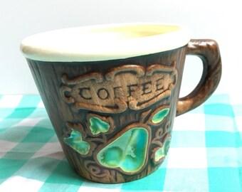 Coffee mug faux wood