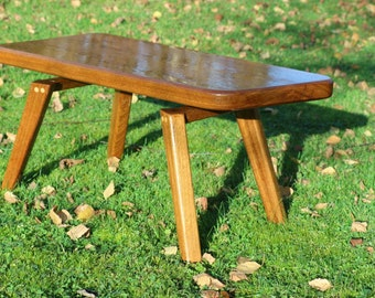 Table low solid wood