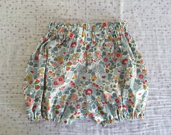 Bloomer Liberty Betsy porcelain, handmade, made in france, back, pants, shorts and liberty