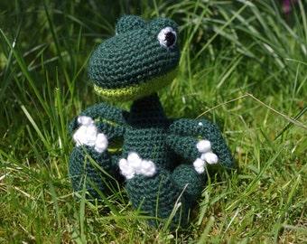 Crocheted dragon plush