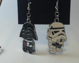 Darth Vader and Storm Trooper Earrings