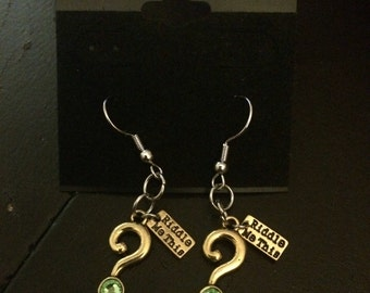 Riddler earrings