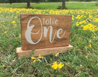 Wood table numbers // wedding decor // wood freestanding table number // rustic wedding decor // rustic table number