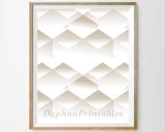 3D art 3D wall decor Graphic art Cool wall art Modern print instant download Geometric wall art printable Minimalist home décor