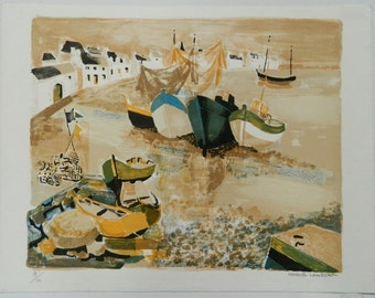"GEORGES LAMBERT (French) ""SEASIDE"" Hand Signed Limited Edition Lithograph 78/120"