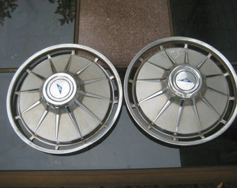 Chevy Corvair 1961 Hubcaps (SET of 2). Chrome