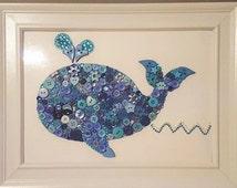Baby Nursery Decor Whale Framed Art Nautical