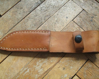 Vintage Full-grain leather-Knife Sheath. Made in Yugoslavia