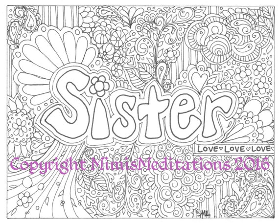 sister coloring pages for kids - photo #43