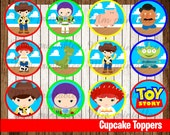 80% OFF SALE Toy Story Cupcakes Toppers instant download, Printable Toy Story Baby party cupcakes Topper, Toy Story Party Toppers