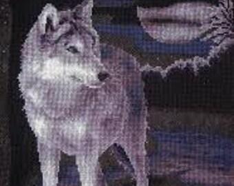 Cross Stitch Kit White wolf