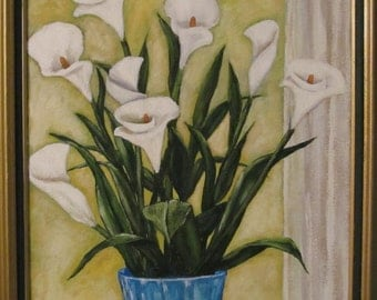 Eight Calla Lillies