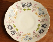 Vintage Queen Anne Bone China Saucer Dish Plate, Made in England, Ridgway Pottery F179