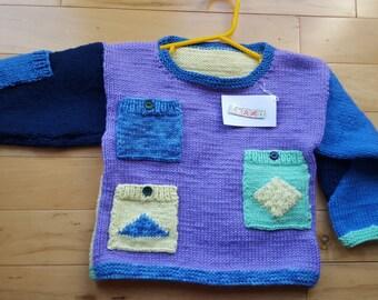 Pocket Sweater (Size 3-4)