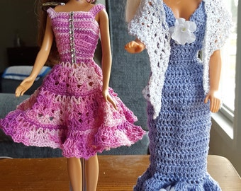 Barbie Doll Gowns (Two Dress Bundle) Barbie clothes, Barbie outfits