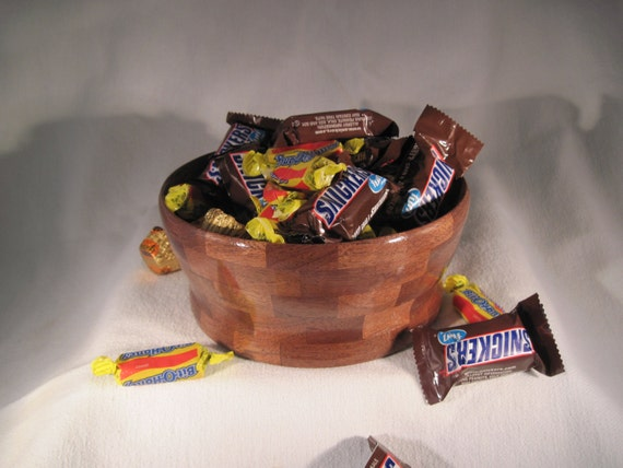 Segmented Walnut Candy or Nut Bowl