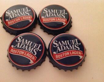 Set of 4 Sam Adams Beer Bottle Caps