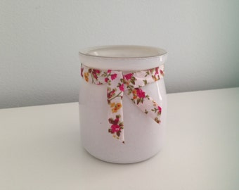 peach scented soy wax candle