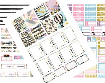 GlobeTrotter Bundle - ENTIRE collection! THREE sticker sheets in one! - My Little Planner PRINTABLE Planner Stickers