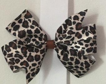 Cheetah Hair Bow/Animal Print Bow