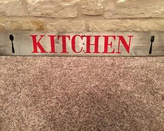 Kitchen Pallet Sign