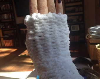 Baby blanket soft Fingerless Gloves